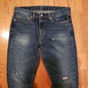Levi's 511 36x34 Slim Fit Jean's Distressed